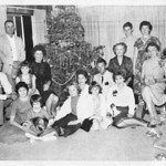 Christmas very early sixties with Leon Hembre and family and Kathie Lenski